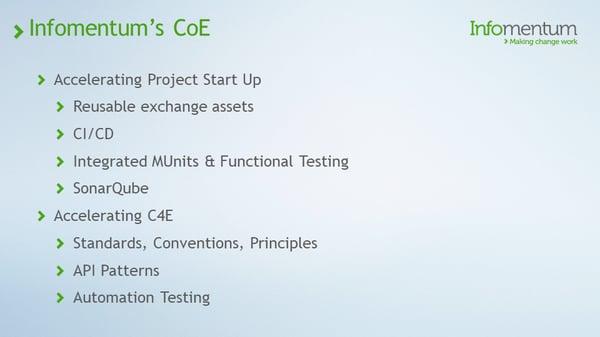 Infomentum's CoE
